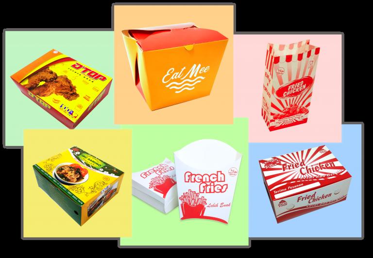 Kardus Makanan Custom Kemasan Cetak Box Dan Kertas